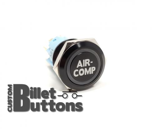 19mm AIR COMP Laser Etched Custom Billet Buttons