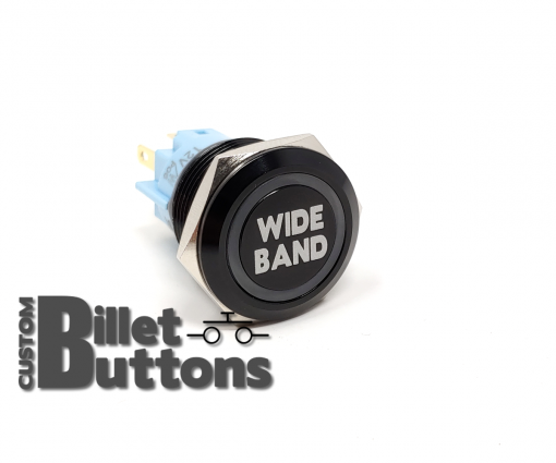 WIDEBAND WIDE BAND Laser Etched Custom Billet Buttons