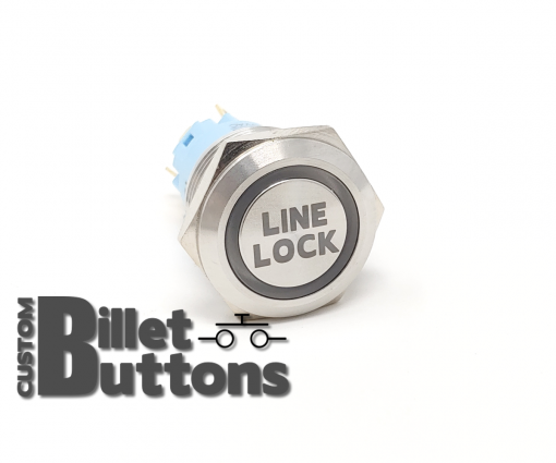 19mm LINE LOCK Laser Etched Custom Billet Buttons