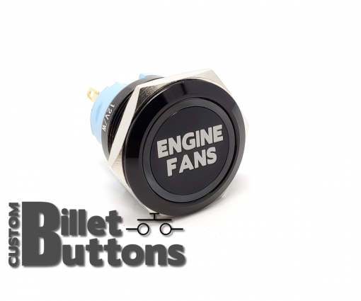 ENGINE FANS 25mm Custom Billet Buttons