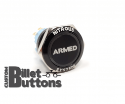 NITROUS SYSTEM ARMED 25mm Custom Billet Buttons