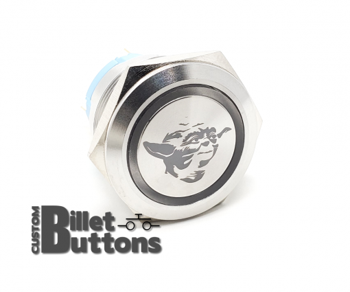 BABY YODA 25mm Laser Etched Custom Billet Buttons
